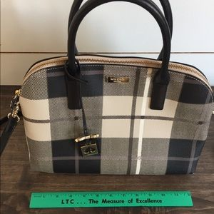 Kate spade black plaid purse